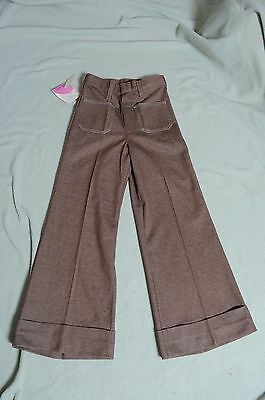 Vintage '70s NOS Little Lady Wrangler bell bottom high waist stretch pants 10