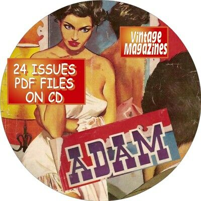 Adam Vintage Men's Magazine - 37 Issues - Pdf Files-On Cd-Fact, Fiction, Humor