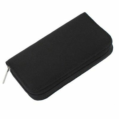 22 pcs SD CF Micro SD Memory Card Storage Carrying Pouch Holder Black PK