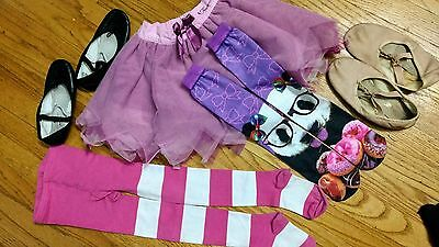 6 pcs LOT BALLET size 5 - 8 girl DISNEY BRAND TUTU, TIGHTS, BALLET SHOES