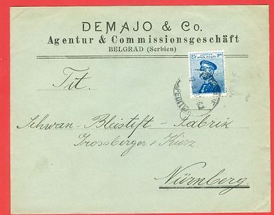 Serbia 25c Solo on DEMAJO & Co Advertising cover to Germany