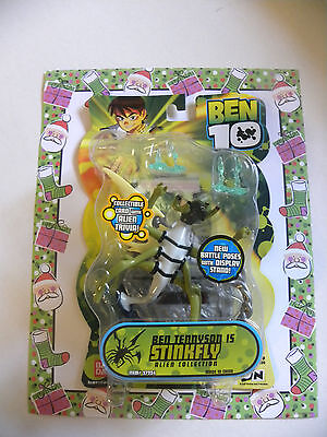 Ben 10 Alien Force Stinkfly Action Figure BanDai NEW COLLECTIBLE CARD W/ TRIVIA