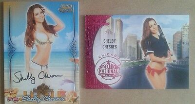 Shelby Chesnes 2015 Card of the Month + Nat'l Archive 2 card lot
