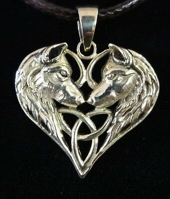 Lisa Parker Sterling Silver Gothic Wicca Jewellery Wolves HeartPendant