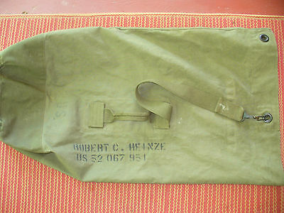 Vintage  U.S. Army MILITARY DUFFLE BAG BACKPACK C-BAG SEABAG 1948-1966
