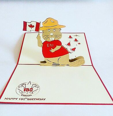 Beaver: Canada 150 collectible limited edition pop-up greeting card