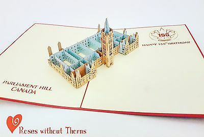 Parliament Hill: Canada 150 collectible limited edition pop-up greeting card