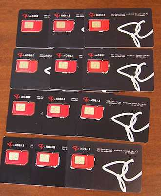 PC Mobile Canada Standard Micro SIM CARD (New ) - Fits iPhone 4 - Lot of 10