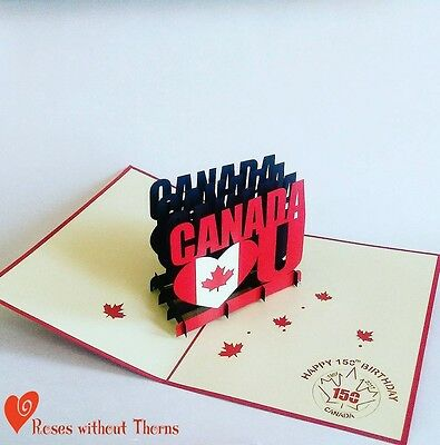 Canada ❤ You: Canada 150 collectible limited edition pop-up greeting card