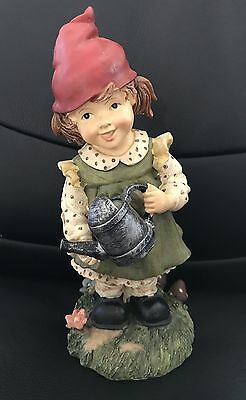 GNOMELETTS - Girl Gnomelette Holding A Watering Can *Gnome Children*