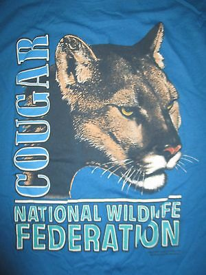 Vintage Sun Sportswear COUGAR National Wildlife Federation (XL) T-Shirt