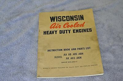 Wisconsin Manual and Parts List AA,AB,ABS,ABN,AK,AKS,AKN