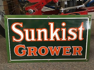 quality SUNKIST GROWER porcelain SIGN