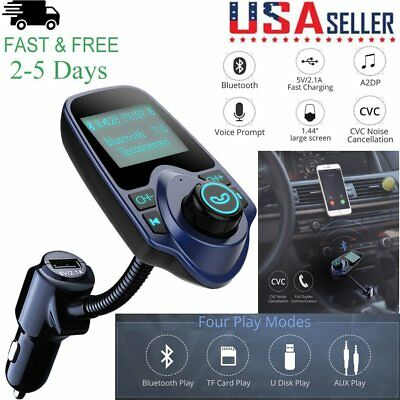 Wireless Bluetooth FM transmitter Music Audio Stereo Speaker Handsfree Car Kit