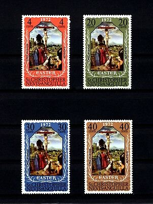 St Kitts-Nevis - 1972 - Easter - Crucifixion - Massys - Mint - Mnh Set!