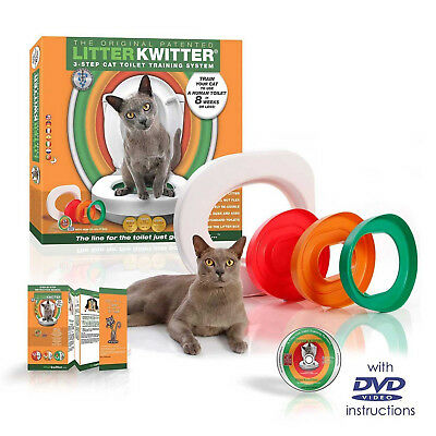 Litter Kwitter Cat Training System Train Your Cat Kitten To Use The Toilet