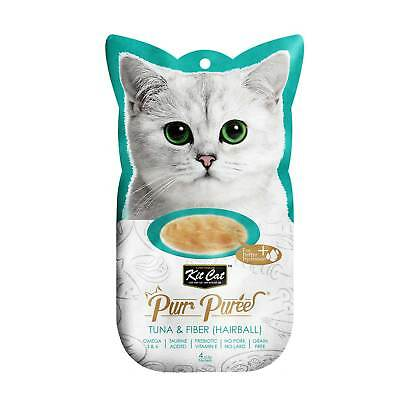 Kit Cat Purr Puree Tuna & Fibre Hairball Cat Kitten Treat (4x15g Sachets)