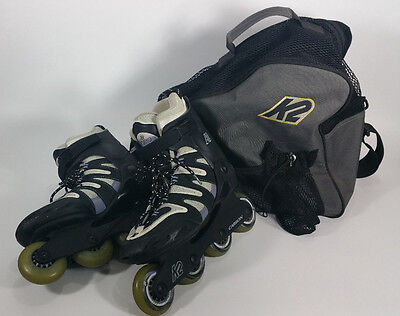 K2 Camano-W Carbon Inline Skates Roller Blades Womens 9 Softboot with Bag