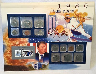 c.1980 PCS United States Historic Year Panel Coin & Stamp Set