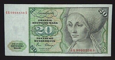 GERMANY FEDERAL REPUBLIC 20 DEUTSCHE MARK 1980  P 32d