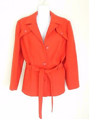 Vintage Pure Wool Red Womens Jacket Stylemaster made in Australia Size 10-12