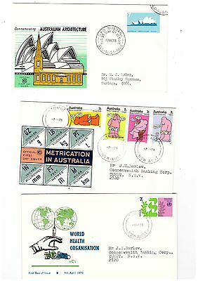 Australia 1973 Group of WCS FDCs   ( 3 Covers )    Lot no 2