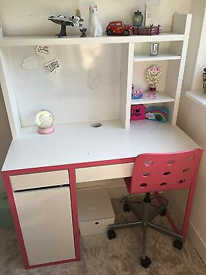 IKEA Micke Desk With Whiteboard and Jules Chair