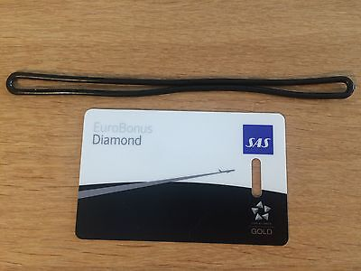 Scandinavian Airlines Diamond - Star Alliance Gold - Card Luggage Bag Tag
