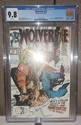 Wolverine #10 - CGC 9.8 - White Pages - Sabretooth Appearance - New