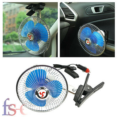 7 inch 12V Portable Dashboard Vehicle Auto Car Cooling Oscillating Fan Clip-On