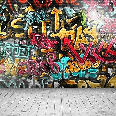 Cool Street Graffiti Hip Hop Background Studio Props Vinyl Photography Backdrops