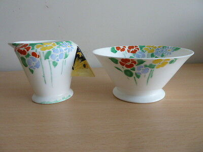 Shelley Mode Shaped Butterfly Handle Jug And Bowl