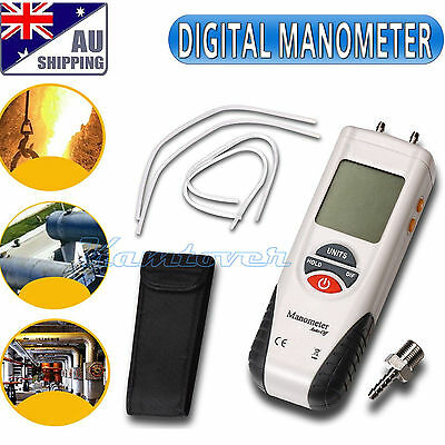 Air Pressure Meter ±13.79kPa Digital Manometer Gauge & Differential Pressure AU