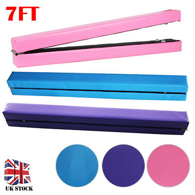 7FT 2.1M Gymnastics Folding Balance Beam Hard Wearing Home Gym Training Sports