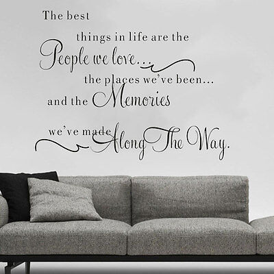 57*40 Family DIY Removable Art Vinyl Quote Wall Stickers Decal Mural Home Decor