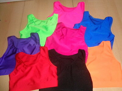 Lycra Girls Crop Tops Dance Gymnastics Freestyle Various sizes and Colours