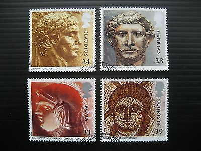 Gb 1993 Roman Britain Full Set Sg 1771/4 Very Fine Used Stamps