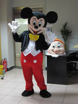 Crazy Sale Mickey Mouse Mascot Costume Adult Size Fancy Dress Halloween
