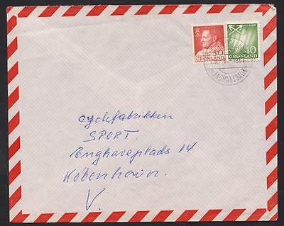 GROENLAND Letter used  year 1957 to Copehagen