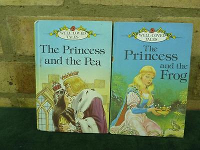 2 Vintage Ladybird book Well loved tales Princess and the Pea , Princess frog
