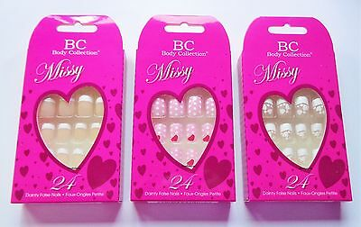 Body Collection Missy Nails For Dainty Fingers Petite False Nails Girls Small