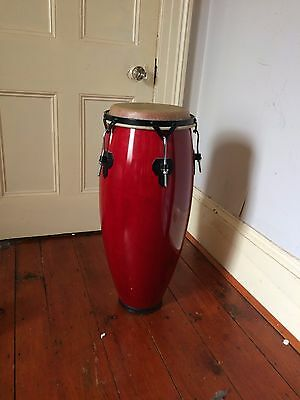 10' Conga drum _ 30' Tall _ Red _ Lightly used
