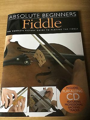 Music Book: 'Absolute Beginners FIDDLE with play along CD for violin