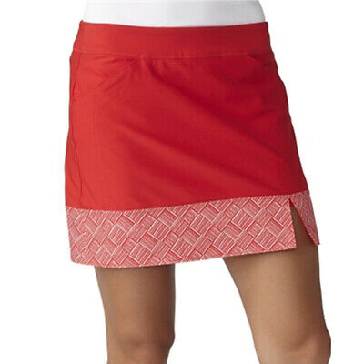 NEW Adidas GolfAdidas Tour Print Hem Ladies Skort - Red [Size: Large]