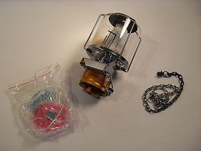 Mini Gas Lantern Hanging Glass Lamp Tent Light Outdoor Camping
