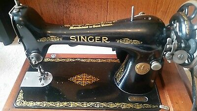 VINTAGE Singer Electric Sewing Machine w/ Case, Light, Instructions & Spares