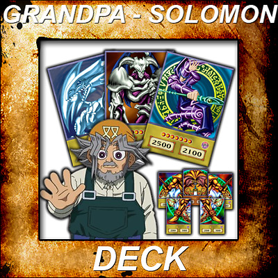 Yugioh Orica Aniime Cosplay GRANDPA - SOLOMON Deck of 59 cards - Custom Backing