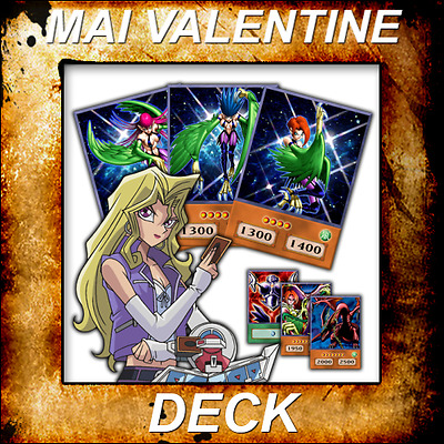 Yugioh Orica Aniime Cosplay MAI VALENTINE Deck of 48 cards - Custom Backing