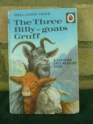 Vintage Ladybird book The Three Billy Goats Gruff Well loved tales price 15p net