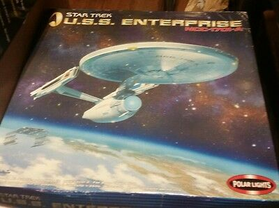 Polar Lights STAR TREK ENTERPRISE 1701 Movie 1/350 unstarted blue plastic rare